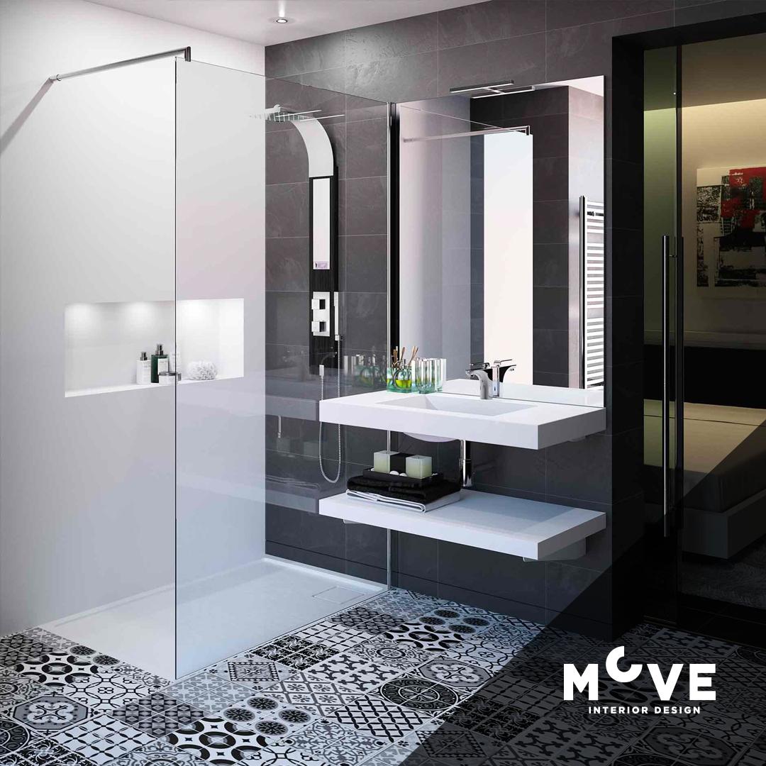 Siyah Beyaz Banyo Model Çeşitleri